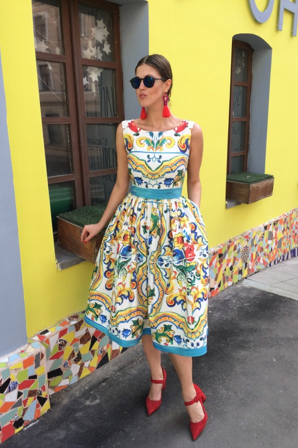 Платье Porto Majolica Light Cotton Dress