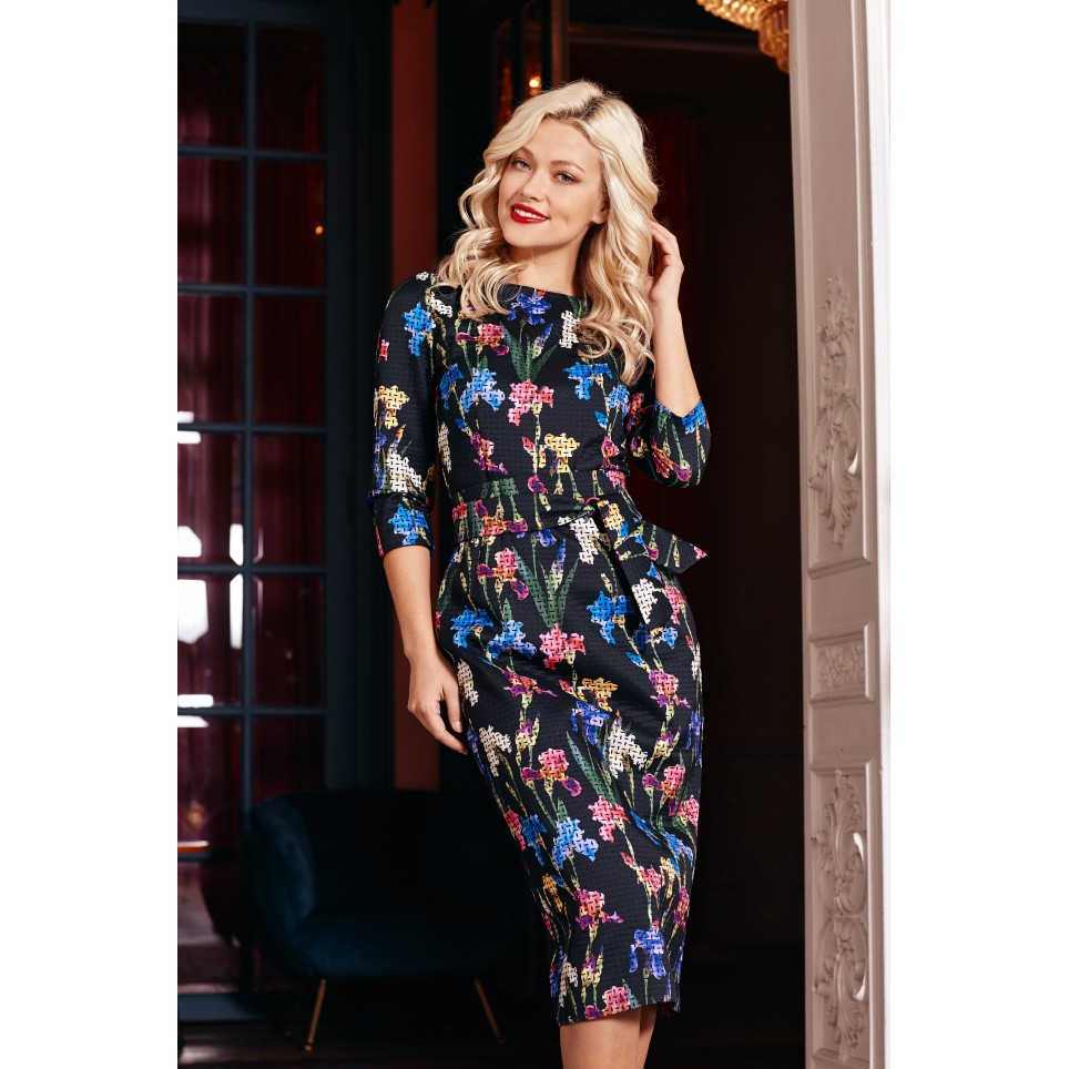 Roses Fall Bodycon Dress