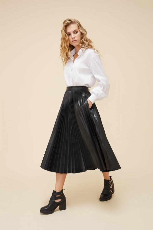 MILANO Skirt, leather