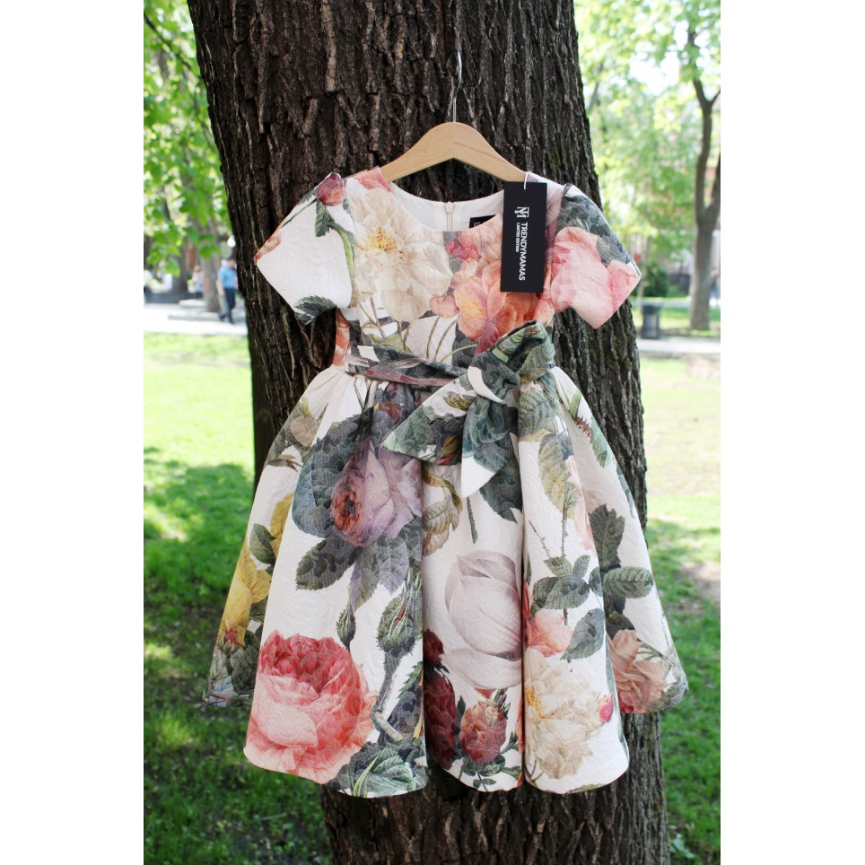 Full Bloom Gown Dress, crème, baby