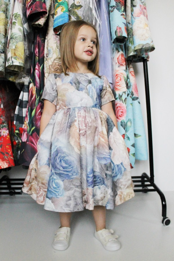 Pearls and Peonies Jacquard Dress, baby