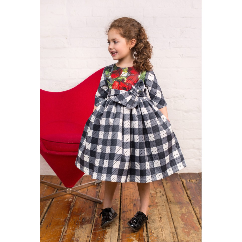 Checkmate & Roses Dress, baby