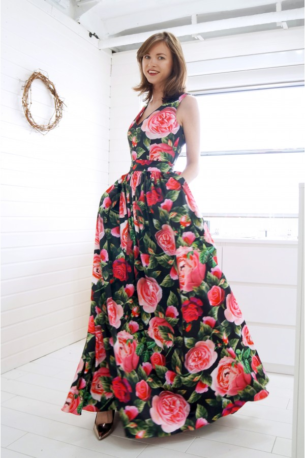 Night of Roses Gown Dress